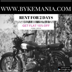 Bike rental in bangalore